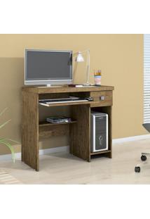 Mesa Para Computador 1 Gaveta System Valdemóveis Ipê