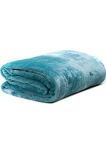 Cobertor Super Soft Casal- Verde ÁGua- 180X220Cmsultan