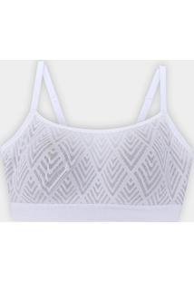 Sutiã Sutop Liz Expression Big Sizes 57512 - Feminino-Branco