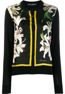 Dolce & Gabbana Cardigan Com Estampa - Preto