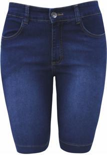Bermuda Pau A Pique Básica Jeans Azul