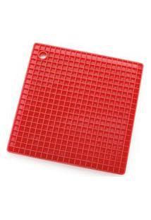 Descanso De Panela Silicone Quadrado Electrolux Vermelho