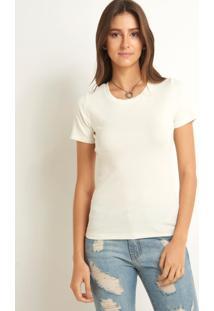 Blusa Le Lis Blanc Vitoria Ii Malha Off White Feminina (Off White, G)
