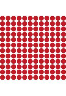 Adesivo De Parede Bolinhas Vermelhas 144Un - Tricae