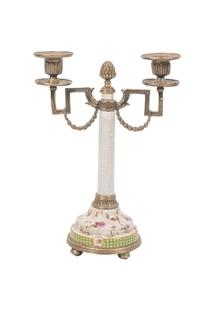 Castiçal Decorativo De Porcelana Petite Rose - Unissex