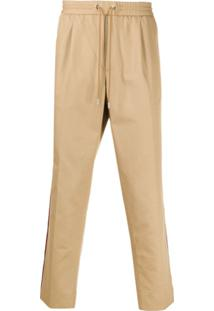 Moncler Stripe Detail Drawstring-Waist Trousers - Neutro