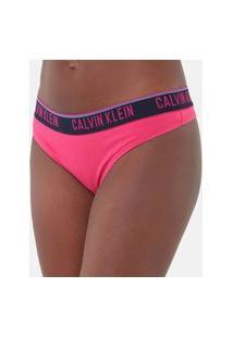 Calcinha Calvin Klein Fio Dental Cotton Pink