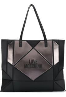 Love Moschino Bolsa Tote Com Recorte - Preto