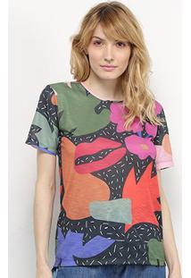 Camiseta Cantão Beija Eu Manga Curta Feminina - Feminino-Preto