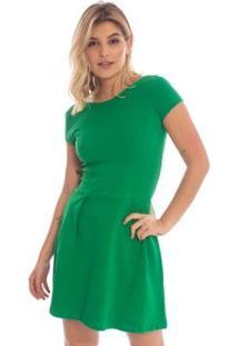 Vestido Liso Heart Aleatory - Feminino-Verde