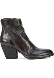 Officine Creative Ankle Boot De Couro 'Jacqueline' - Preto