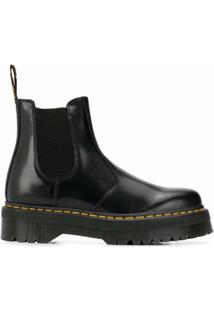 Dr. Martens Ankle Boot Com Plataforma - Preto