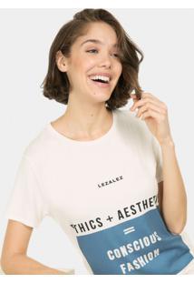 Blusa Estampada Ecológica Branco Off White - Lez A Lez