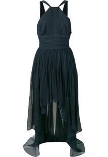 5ec13a94fdc9 Farfetch. Vestido Stella Mccartney Azul Drapeado Frente Única ...