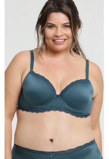 Sutiã Feminino Com Base Jacquard Bolinhas Plus Size Marisa