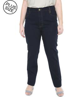 Calã§A Jeans Saint Yves Plus Size Da Cambos Azul - Azul - Feminino - Dafiti
