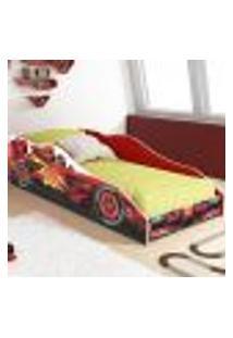 Cama Carro Solteiro F96 Colchão D20 - Vermelho - Rpm Móveis