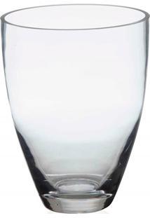 Vaso Em Vidro Jacca Transparente 18Cm
