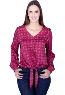 Camisa Love Poetry Estampada Rosa