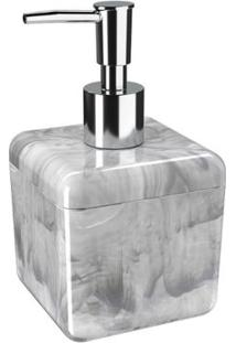 Porta Sabonete Líquido/Álcool Gel Cube 330Ml 8,5X8,5X15Cm Mármore Branco - 20878/0480 - Coza - Coza