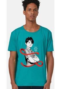 Camiseta Bandup! Turma Da Mônica Laços Cebolinha Laço Masculina - Masculino-Verde