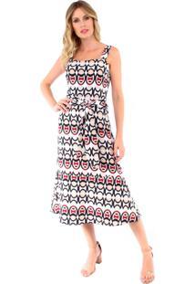 3c27f1d30757 R$ 159,90. Kanui Vestido Estampado Midi Multicolorido Llas Soellas  Boutique. Ir para a loja ...