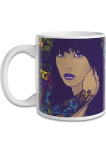 Caneca Blitzart Woman And Flower Style