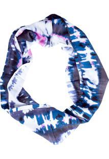Lenço Fiveblu Fechado Azul/Rosa