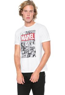 Camiseta Cativa Marvel Vingadores Branca