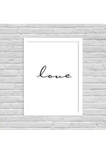 Quadro Decorativo Minimalista Soft Love Branco - Grande