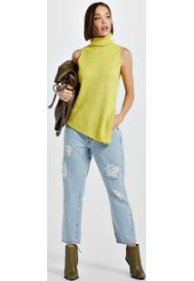 Calça Jeans Skinny Boot High Basic Jeans Claro - 40