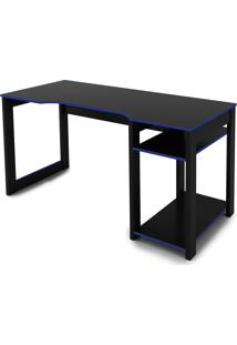 Mesa Gamer Preto /Azul Tecno Mobili