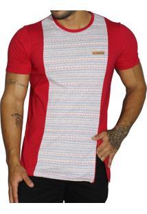 Camiseta Vk By Vk Etnica Zíper Vermelha