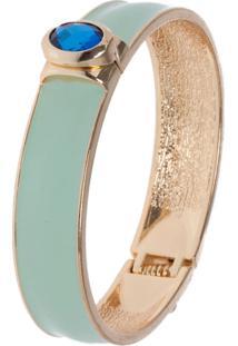 Bracelete Fiveblu Esmaltado Pedra Verde