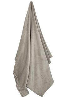 Cobertor Flannel Loft Queen Size- Bege Escuro- 220X2Camesa