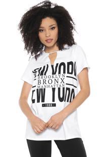 Camiseta My Favorite Thing(S) Choker Lettering Branca