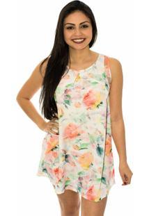 Vestido Capim Canela Amplo Sweet Floral