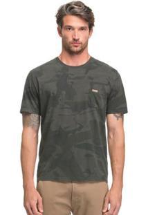 Camiseta Camuflada Com Bolso Cinza Hangar 33
