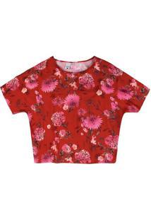 Blusa Ampla Estampada Floral Malwee