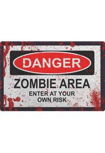 Capacho Geek10 Danger Zombie Cinza