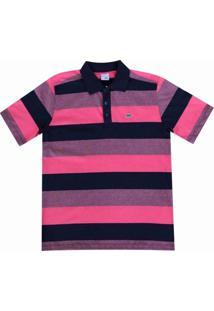 Camisa Pau A Pique Polo - Masculino-Rosa