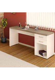 Escritório Home Office, Branco / Madeira, Duo