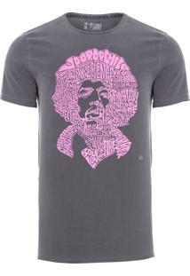 Camiseta Masculina Hendrix - Cinza