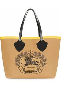 Burberry Bolsa Tote The Giant De Tricô - Amarelo