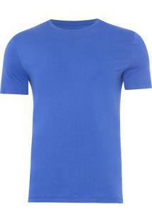 Camiseta Masculina Swim Etiqueta Manga - Azul