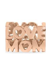 Pingente Life Love Mom Com Banho Ouro Rosé