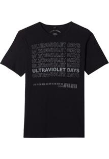 Camiseta John John Rx Ultraviolet Malha Algodão Preto Masculina (Preto, Pp)