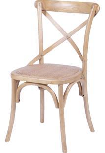 Cadeira Cross Madeira Or Design Bege