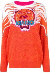 Kenzo Perched Tiger Sweater - Laranja
