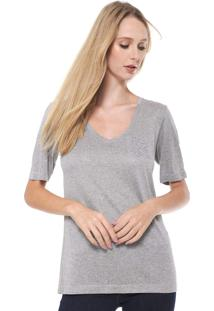 Camiseta Calvin Klein Bordado Cinza